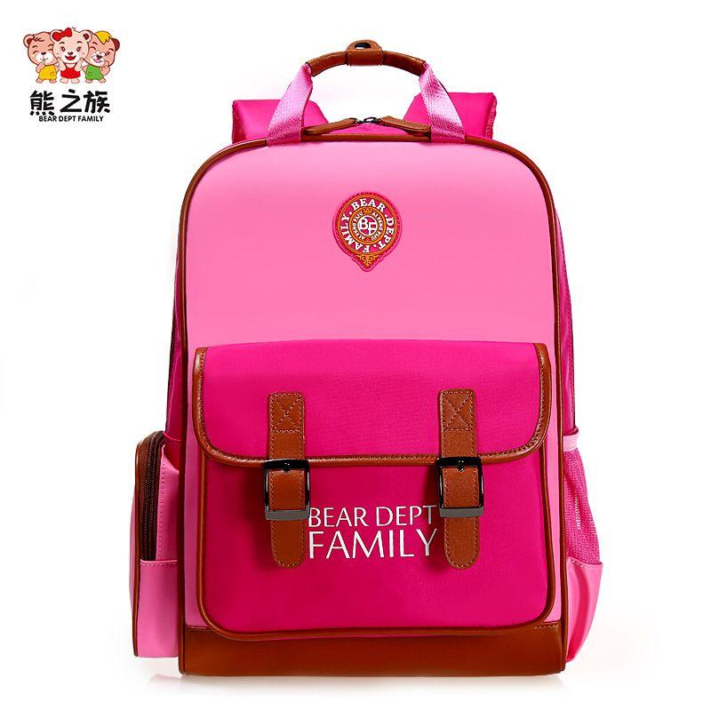 BEAR DEPT FAMILY Children Orthopedic Backpacks Waterproof Bagpack Teenager  School Book Bags Boys Girls Schoolbag schooltas 29c1a3aa264bf