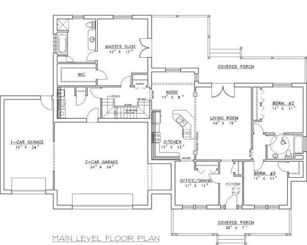 Concrete Block Icf Design House Plan 4 Bedrms 3 Baths 2022 Sq Ft 132 1257 Concrete House House Plans Floor Plans