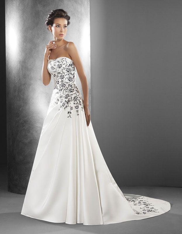 vestido-de-novia-bordado2 | blanco y negro
