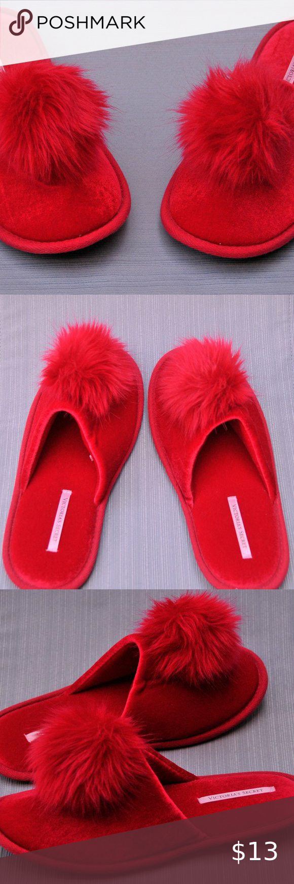 Red slippers, Victoria secret shoes