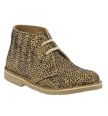 Office Uphill Desert boots Leopard Flocked Suede - Ankle Boots
