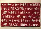 Pottery Barn Christmas SENTIMENT LUMBAR Red Embroidered Pillow Cover ZIPPERED Pottery Barn Christmas SENTIMENT