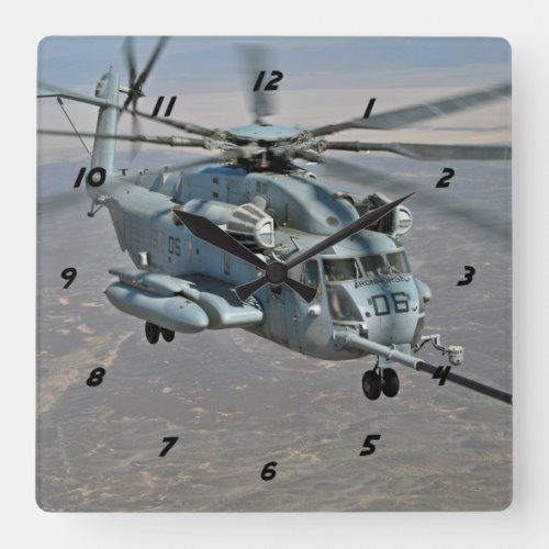 CH-53E on Refueling Mission Clock