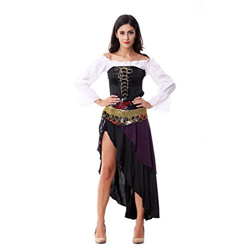 Ladies Sexy Captains Treasure Caribbean Pirate Halloween Fancy Dress Costume HOTER? //  sc 1 st  Pinterest & Ladies Sexy Captains Treasure Caribbean Pirate Halloween Fancy Dress ...