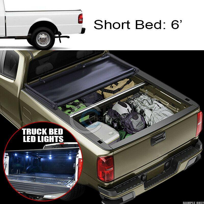 Sponsored Ebay Tri Fold Soft Tonneau Cover 16x Led Lights 83 11 Ranger 94 B2300 B2500 6 Ft Bed With Images Tonneau Cover Truck Bed Led Lights