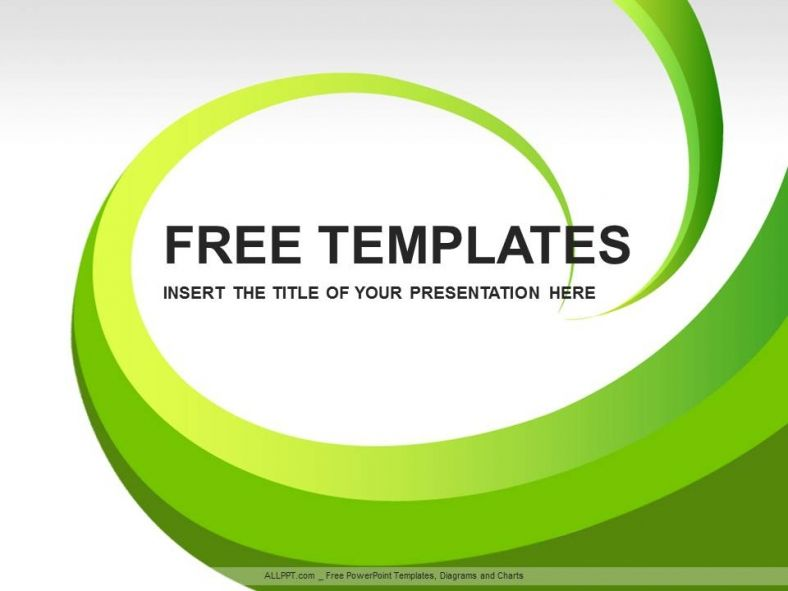 Powerpoint Template Free Download Green Free Green Concept