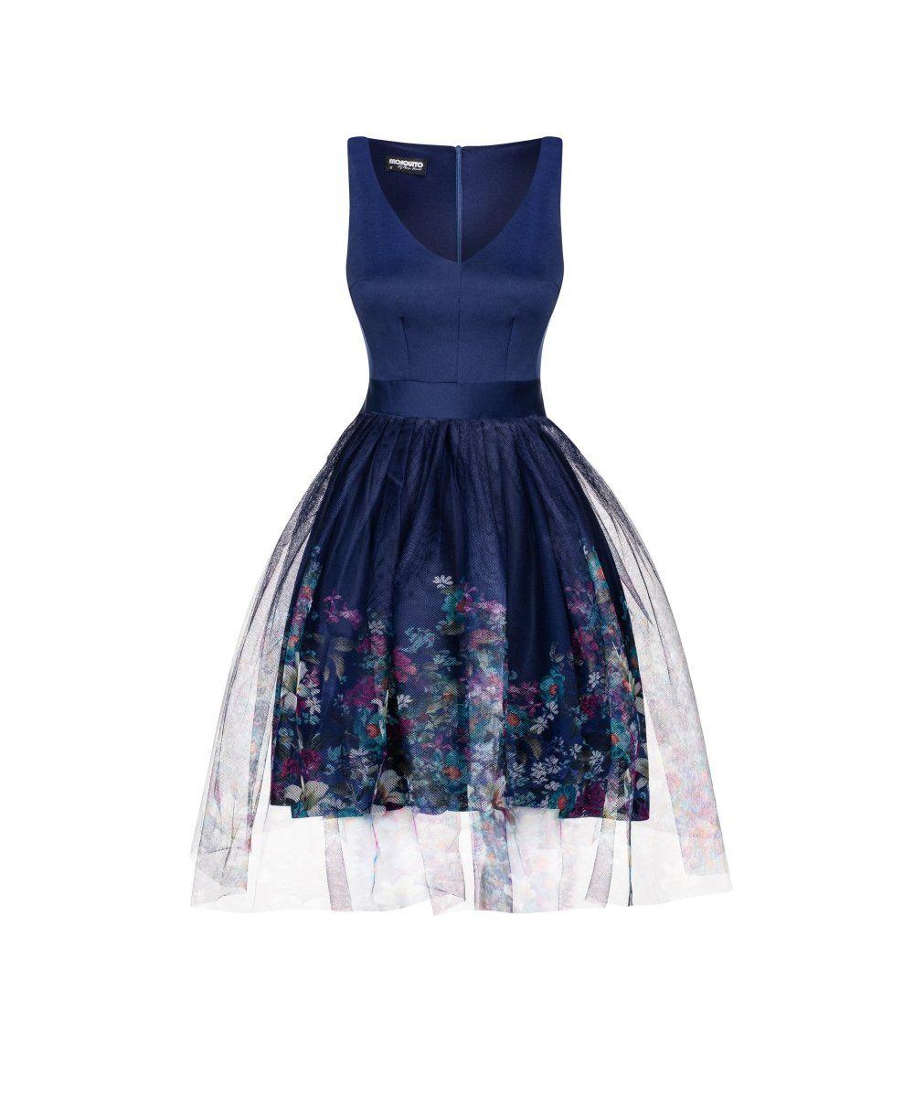 753714963b SUKIENKA Z TIULEM FLOWERS tylko 179.99 w sklepie Mosquito Formalne Sukienki