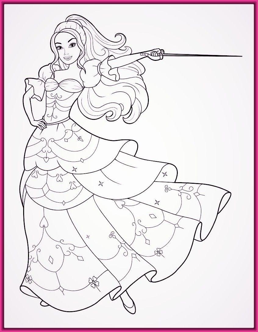 Imagenes de barbie para colorear e imprimir  Coloriage barbie