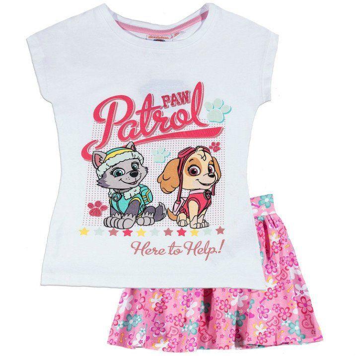 Paw Patrol Rock und T-Shirt M/ädchen Set