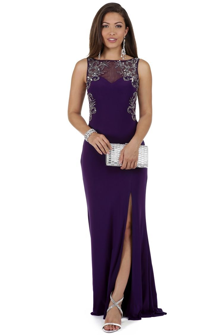 Candice purple beaded prom dress prom dresses windsor and formal
