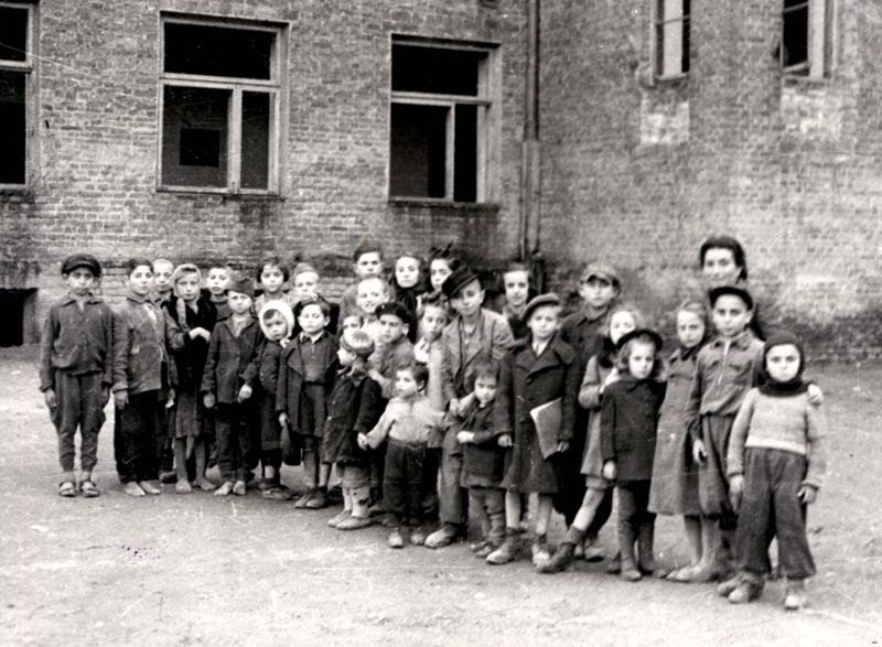 Jewish children who had been hidden in Polish convents