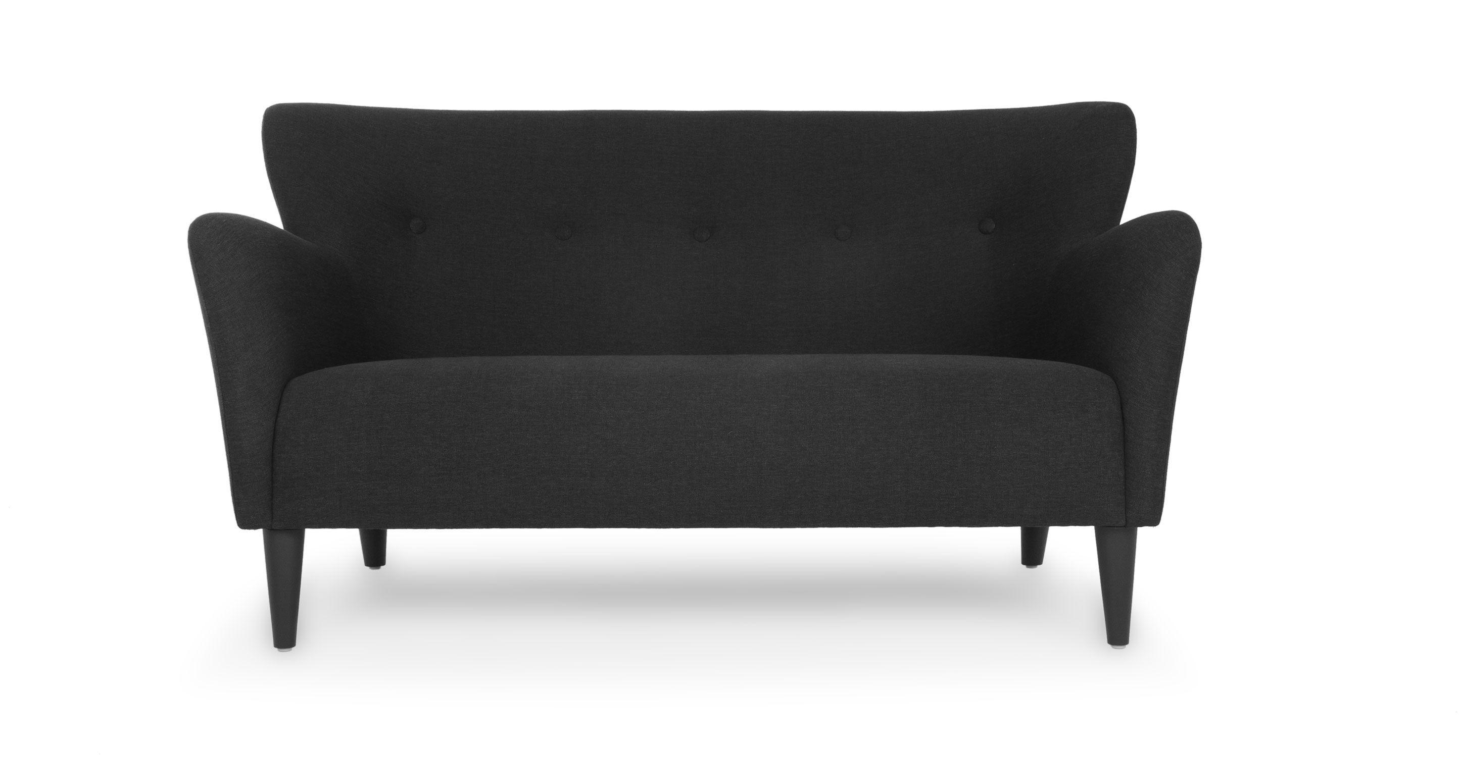 Happy Charcoal Gray Loveseat Scandinavian furniture Loveseats
