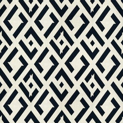 Diane von Furstenberg Fabric Exclusively for Kravet China ClubColor: 81 Nero. Geometric fabric. Lowest Price Guarantee!