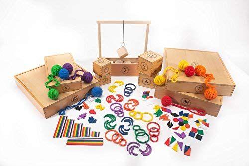 Amazon.com: FROEBEL Gifts 1-9 Set Spielgaben Eunmul: Toys ...