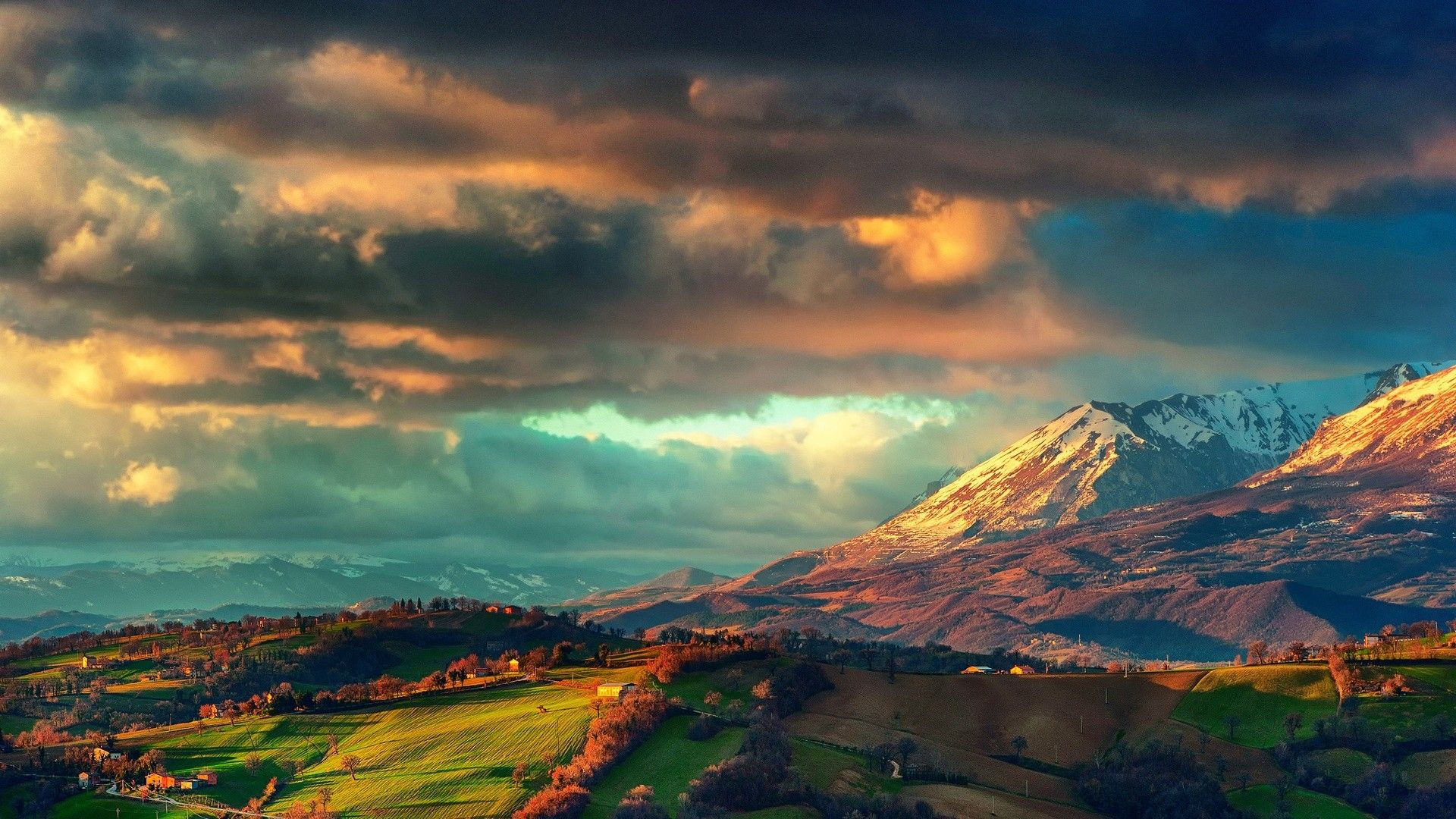 Sunrise Mountains Landscapes Nature Fields Spring Italy The Apennines Wallpaper 2932500 W Scenic Landscape Landscape Photography Art Landscape Wallpaper