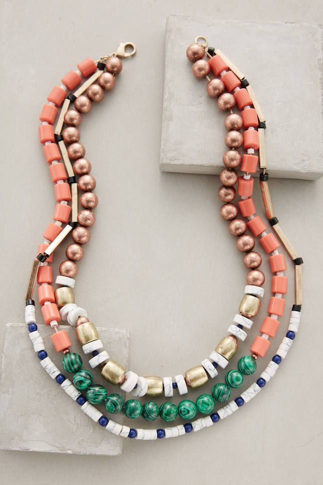 Pair this statement necklace with your favorite summer outfit.