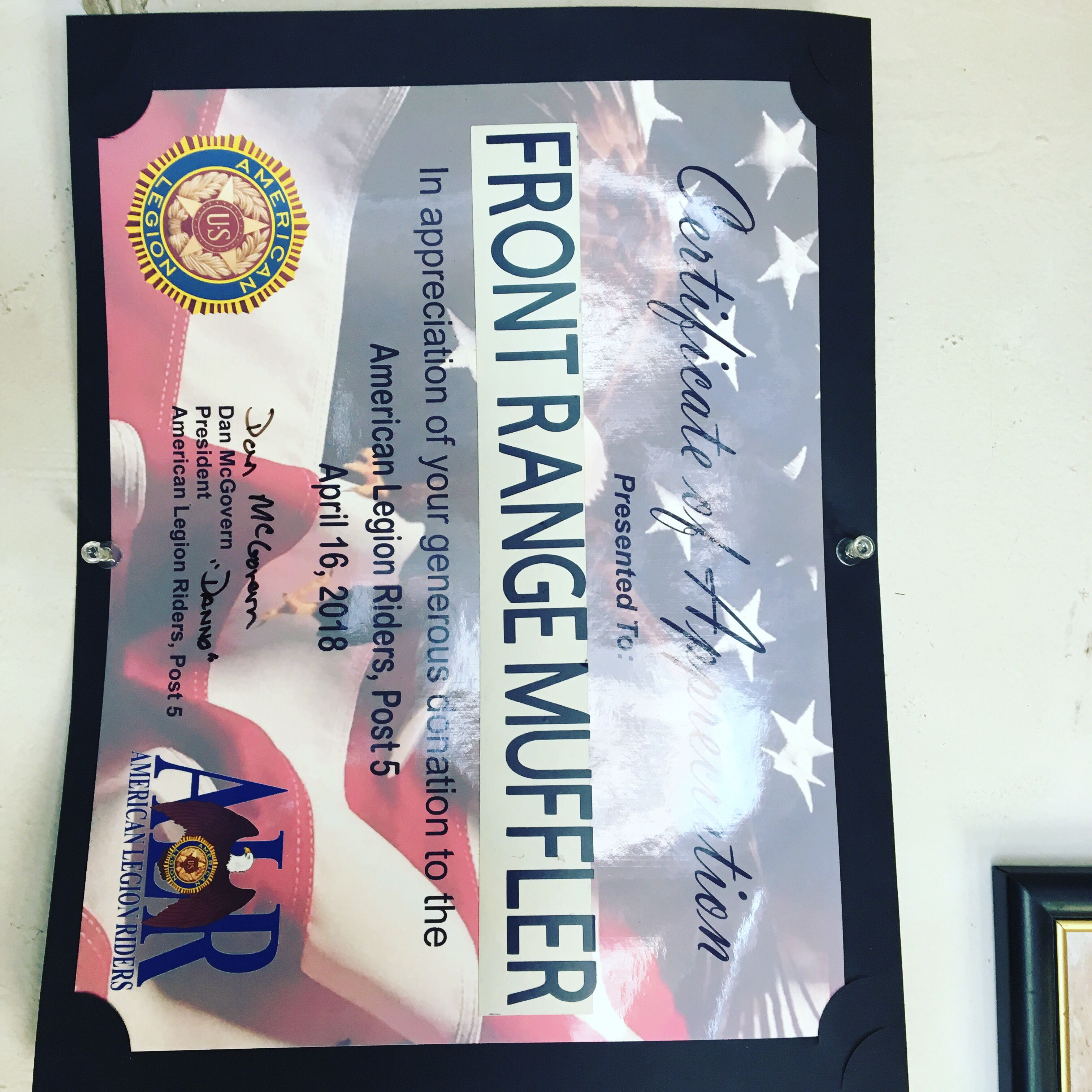 Certificate Of Appreciation Charity Appreciation Military