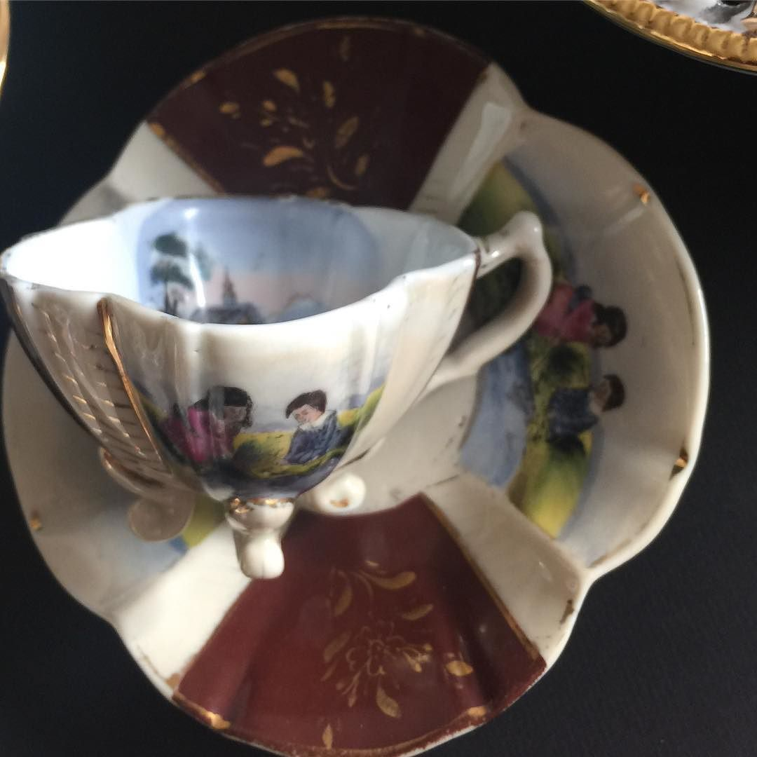 El Boyama Turk Kahve Fincanı 80 Tl Satıştadır Vintage Tea Cups