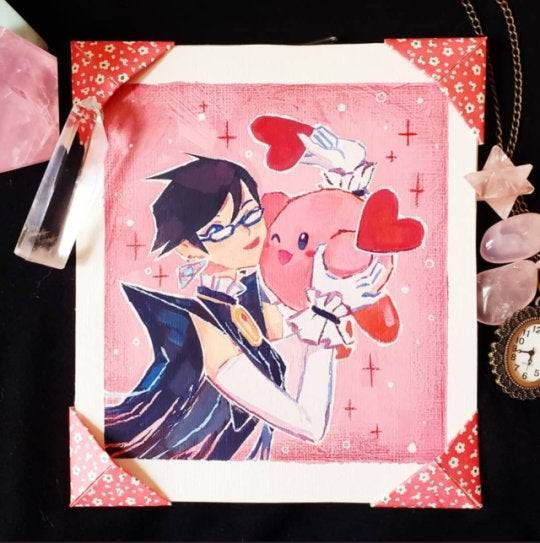 Bayonetta & Kirby Paintings made by Catherine Suh -
