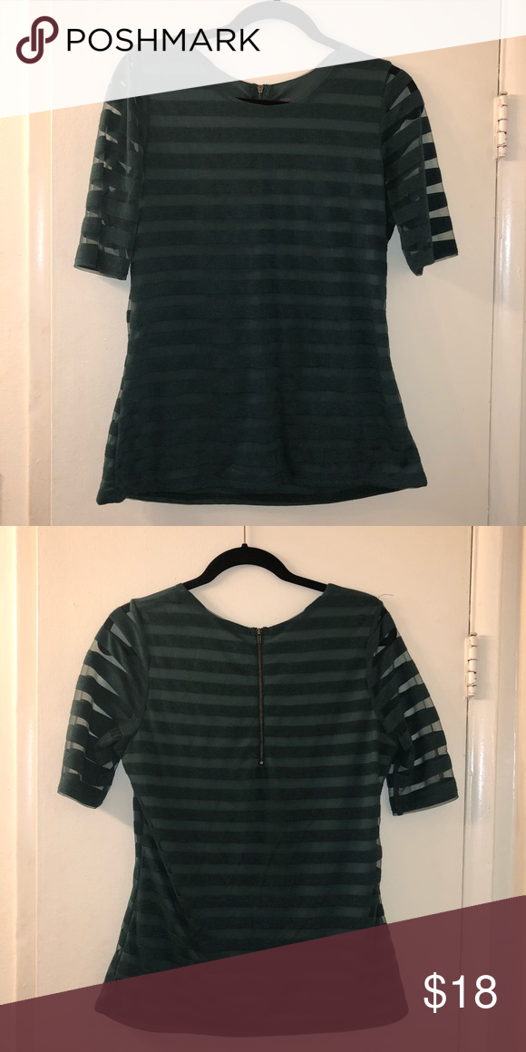 aaf4adc3f67 Sunday in Brooklyn striped shirt In forest green. Sunday in Brooklyn Tops  Blouses