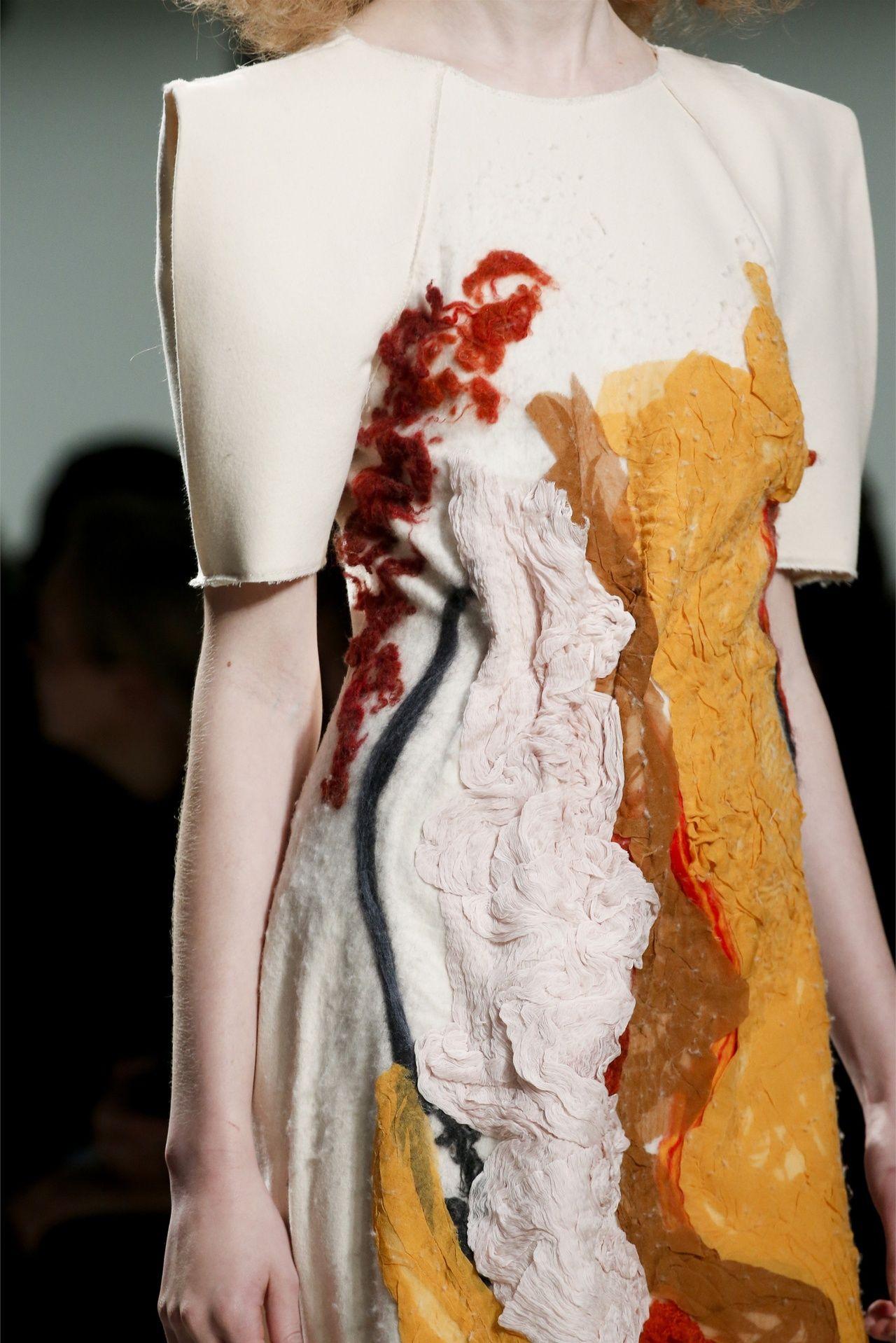 Bottega Veneta F/W '13   incredible, looks like some felting and other kind of fabric process