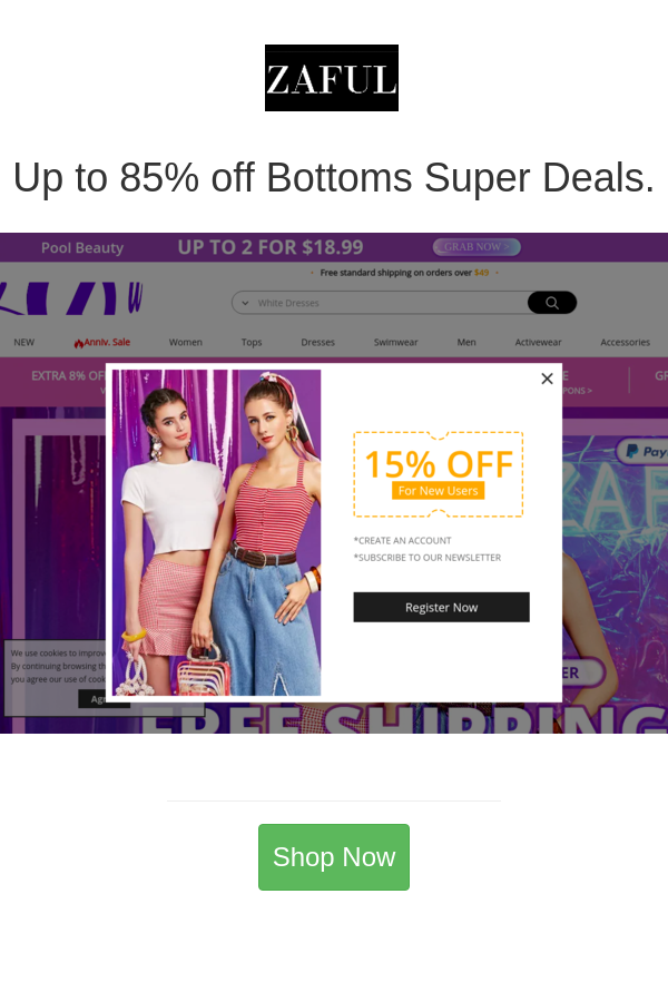 Yazing ranks the best Zaful coupon codes and top 27 Zaful