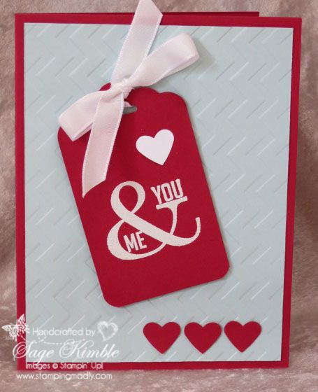 Handmade Valentine S Day Card From Stamping Madly