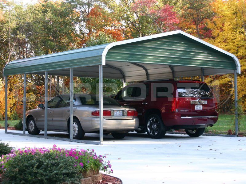 Build A Carport In Driveway : Steel carports are inexpensive and look great in any