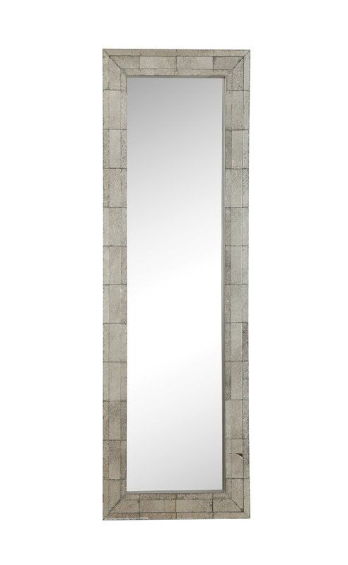 Rectangle Metal Frame Mirror 72x24 Floor Mirror Silver Antique Mirror Mirror 24 x 72 mirror