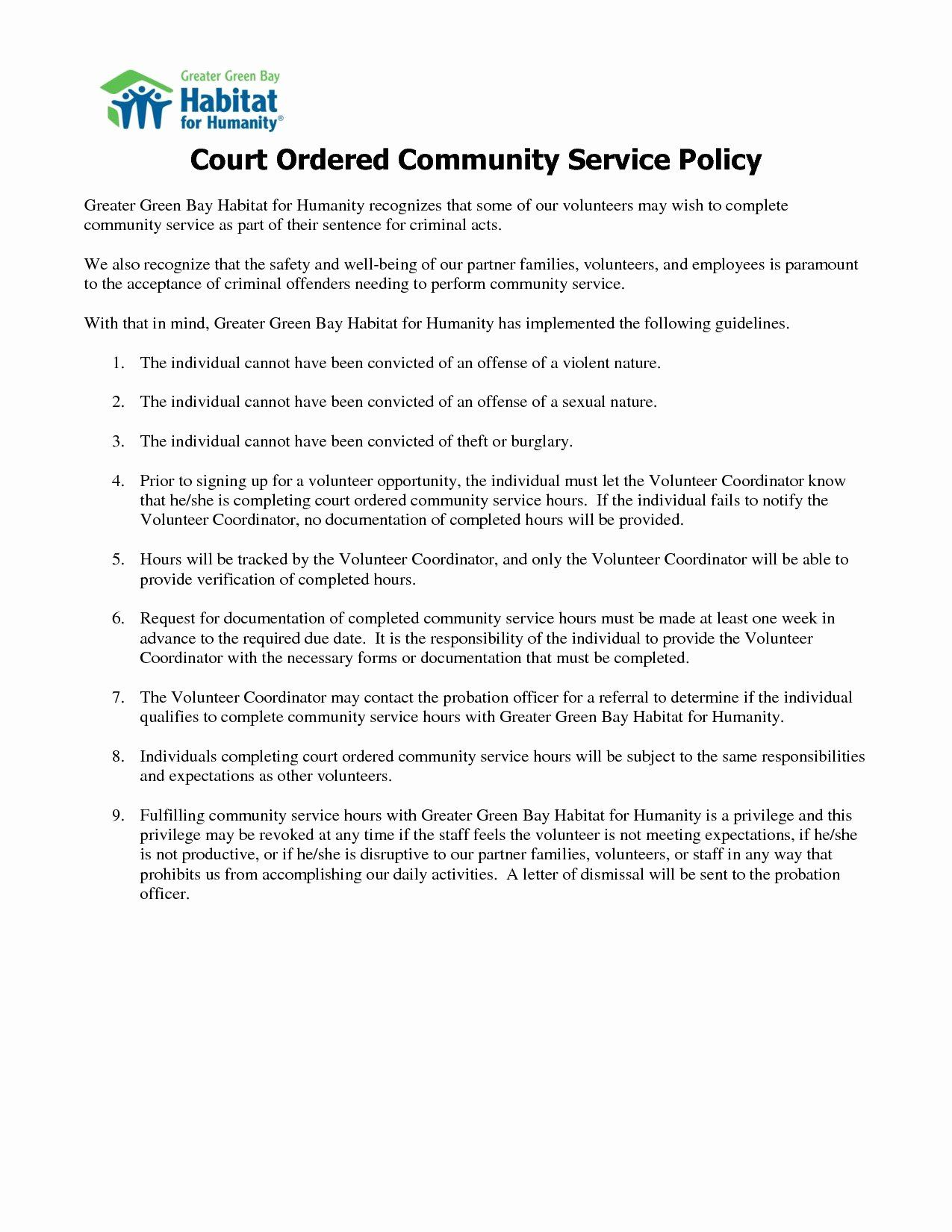 Community Service Letter Template Beautiful Court Ordered Munity Service Letter Templa Community Service Hours Doctors Note Template Printable Letter Templates
