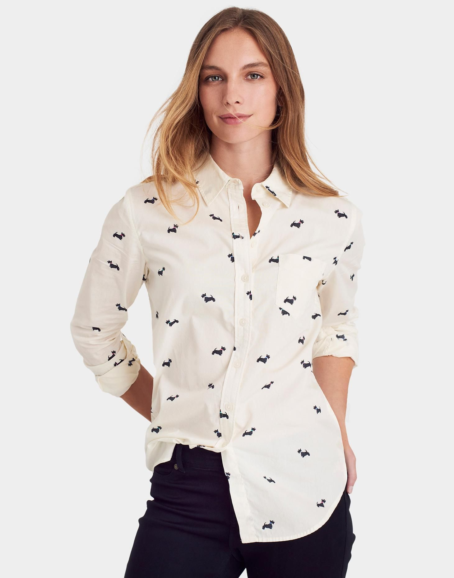 Lucie Cream Scotty Dog Classic Fit Printed Shirt | Joules US | Why ...
