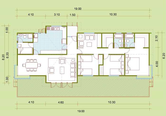 planos casas de madera plano casa madera gratis