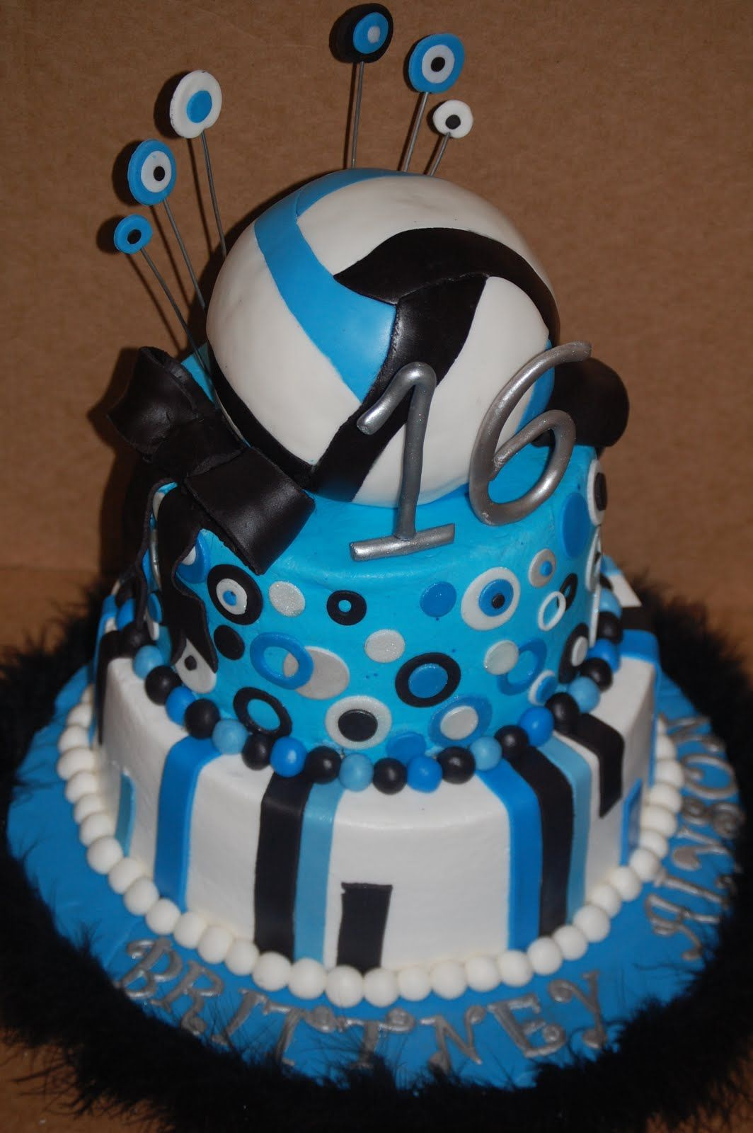 Volleyball cakes. Awesome!