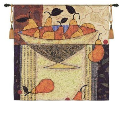 Asian Pears in Bowl Wall Hanging by Penny Feder 54\