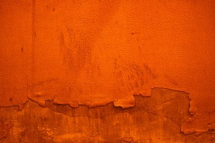 Orange Withered Paint Wall Texture Background Canvas Paper Autumn