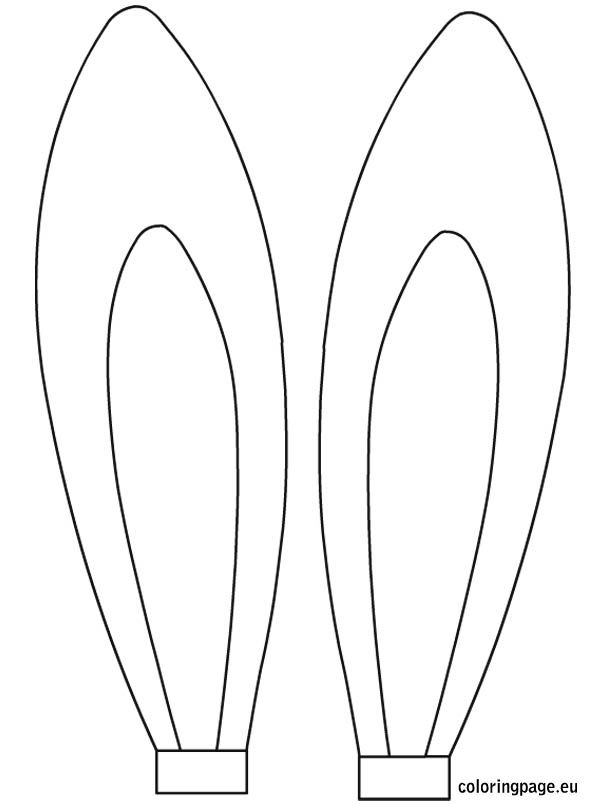 Easter Rabbit Ears Template Coloring Page Easter Templates Easter Kids Easter Rabbit