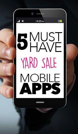 5 Must Have Yard Sale Apps Yard Sale Display Yard Sale Organization Yard Sale