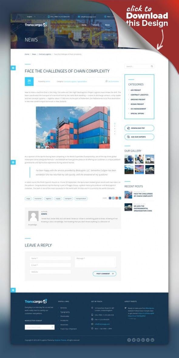 Transcargo - Transport WordPress Theme for Transportation, Logistics ...