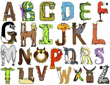 animals with four letters free animal themed alphabet letters early learning 20464
