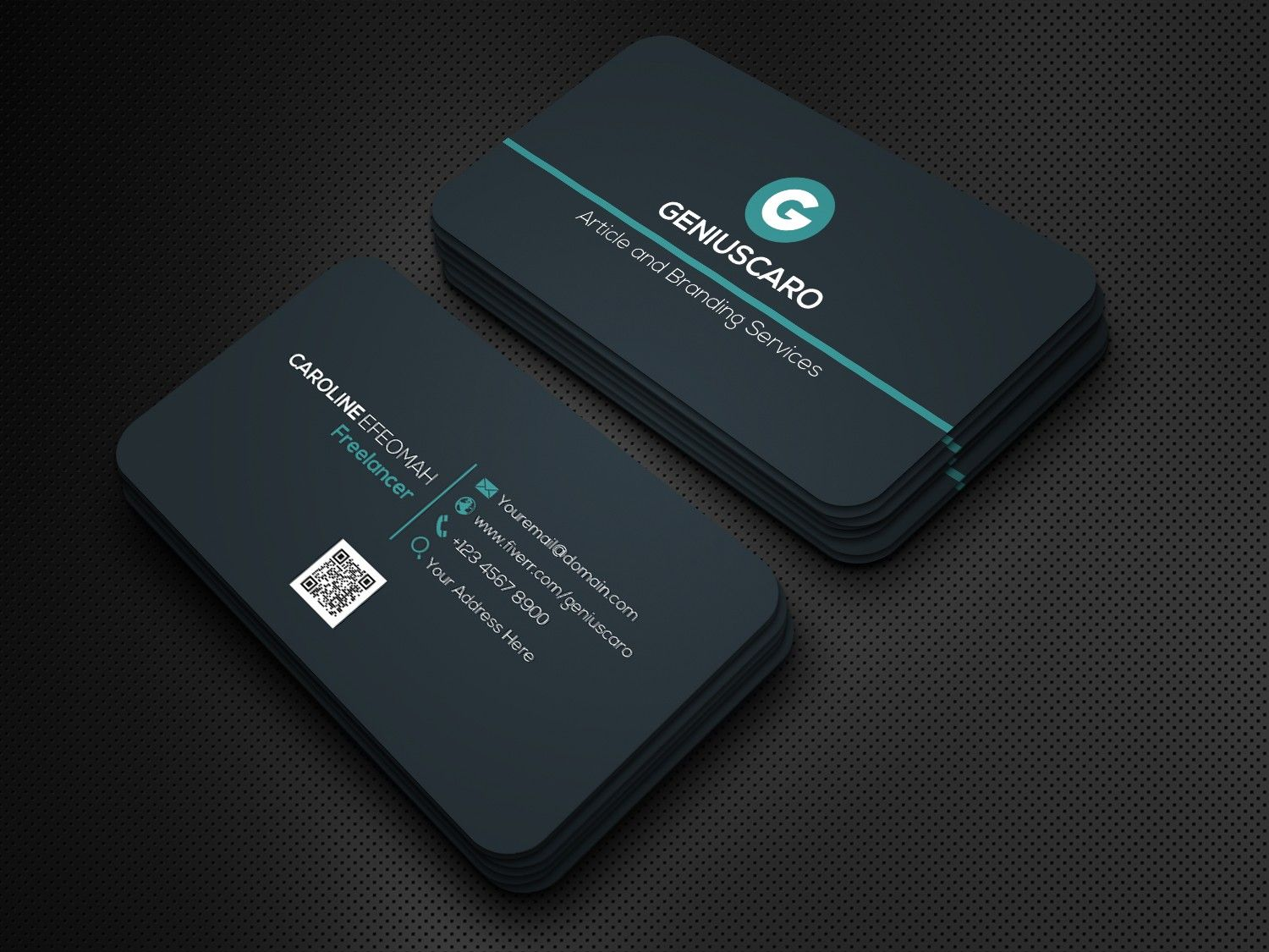 Geniuscaro I Will Design An Outstanding And Luxury Business Card Design With Qr Code For 5 On Fiverr Com Business Card Design Unique Business Cards Design Qr Code Business Card