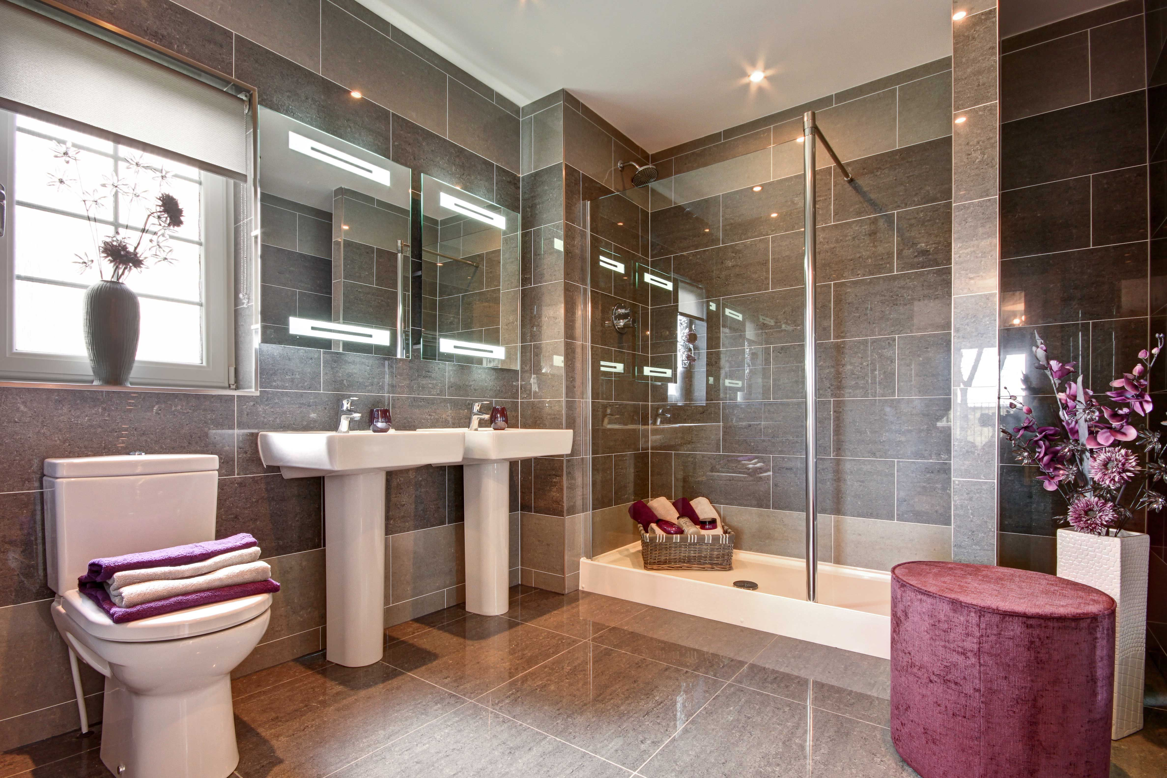 His & hers bathroom - luxurious living at Charles Church homes