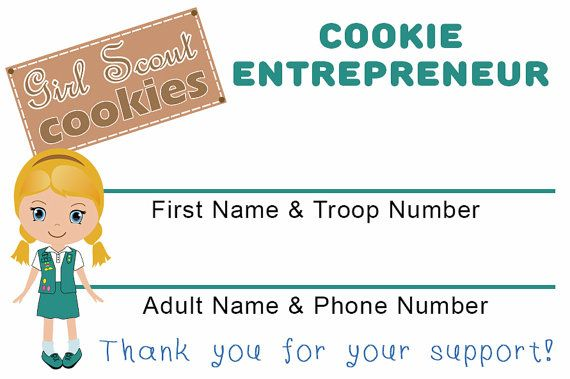 Great girl scout cookie sale tool girl scout junior cookie business great girl scout cookie sale tool girl scout junior cookie business cards by sandysamdesigns on colourmoves