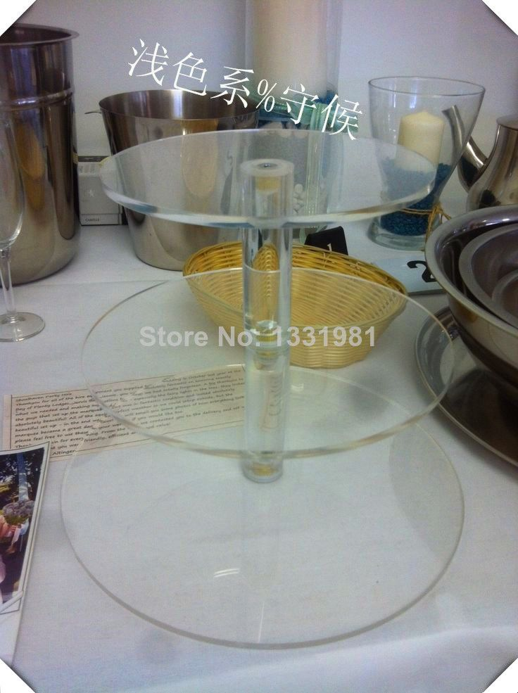 3 tier clear desk perspex cup cake stand rack wedding