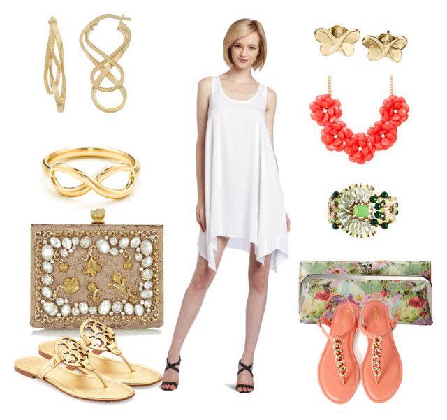 """BCBG dress"" by lana-phea-sa ❤ liked on Polyvore featuring Dolce&Gabbana, BCBGMAXAZRIA, Tory Burch, Tiffany & Co., HOBO, Fremada, Nali and Adina Reyter"
