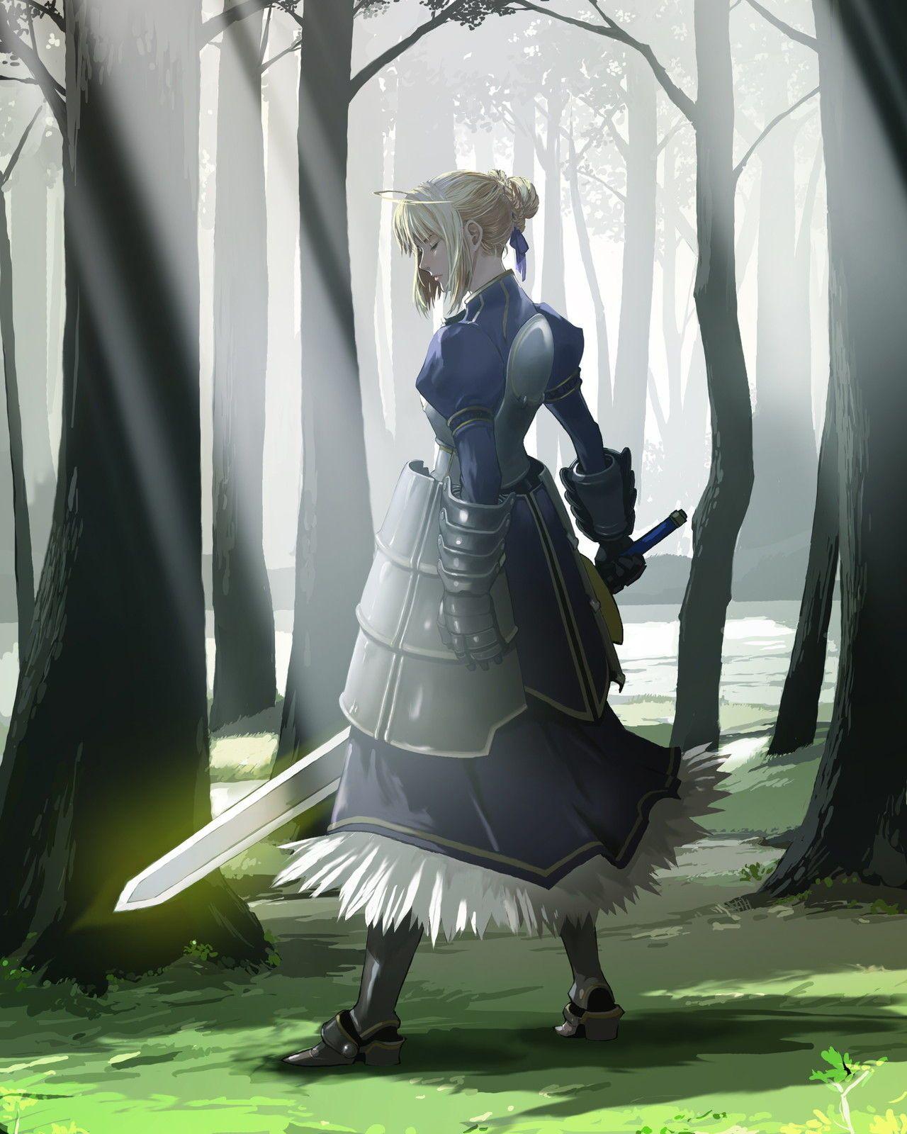 「騎士王の誇り」TYPE-MOON Fate/stay night  by.エナミカツミ(1280×1600)