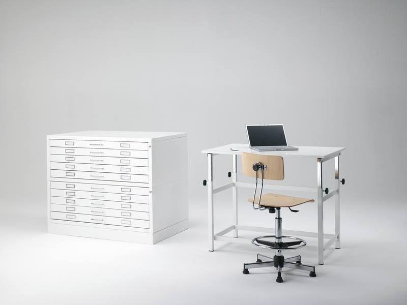 Qsa. tavolo architetto regolabile. con sgabello classico e