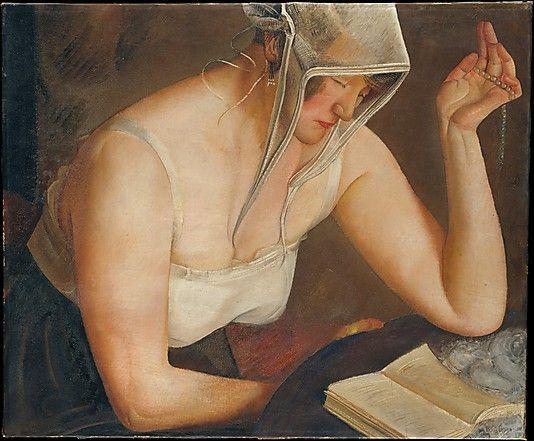 Woman Reading, Boris Grigoriev (1922)