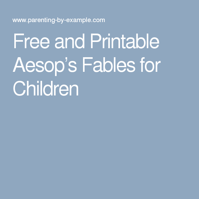 picture about Aesop's Fables Printable identify Totally free and Printable Aesops Fables for Little ones The