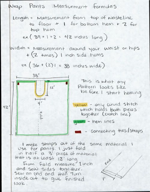 Wrap-around pants Super easy! | Serger/Sewing | Pinterest | Wrap ...