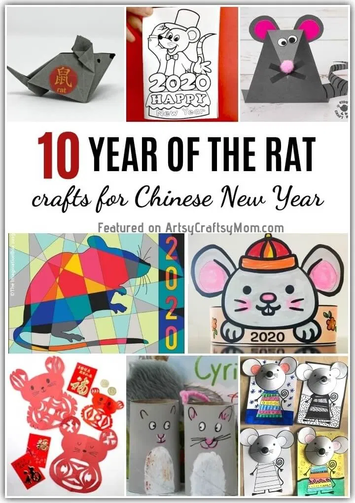 Chinese New Year Rat Crafts for Kids